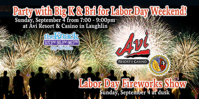Labor Day Fireworks Show at  AVI Resort & Casino in Laughlin with Big K & Bri