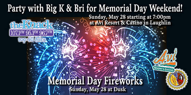 Party with Big K and Bri Memorial Day Weekend Fireworks