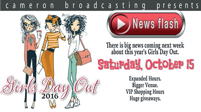 Girls Day Out 2016 - Coming Saturday, October 15