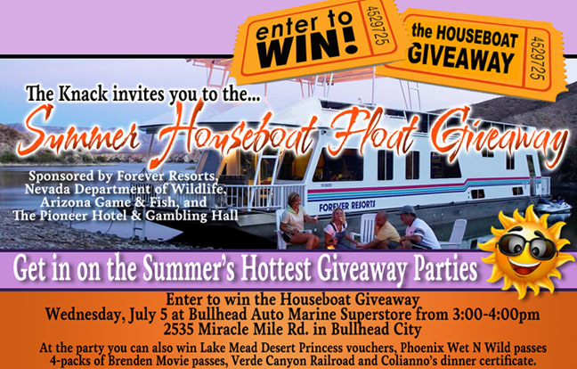 Summer Houseboat Float Giveaway - Bullhead Auto Marine Superstore