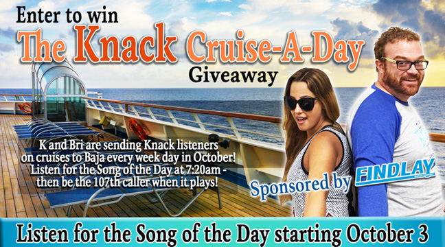 The Knack Cruise-A-Day Giveaway