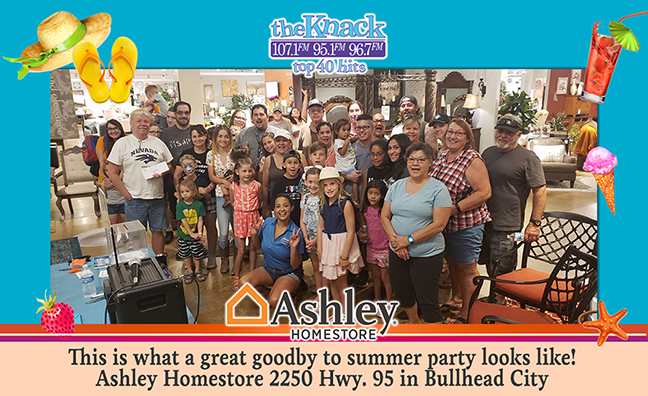 Knack Say Goodbye To Summer Party at the Ashley Homestore in Bullhead City