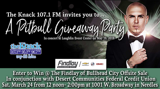 The Knack and Findlay of Bullhead City - A Pitbull Giveaway Party